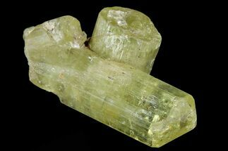 "1.1"" Lustrous Yellow Twinned Apatite Crystal - Morocco For Sale, #82544"