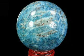 "2.25"" Bright Blue Apatite Sphere - Madagascar For Sale, #83090"