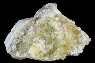 "2.2"" Yellow Cubic Fluorite Crystal Cluster - Morocco For Sale, #84242"