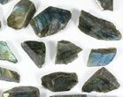 Wholesale: 1kg One Side Polished Labradorite - 28 Pieces - #84476-2