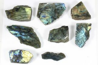 Buy Wholesale: 1kg One Side Polished Labradorite - 8 Pieces - #84481