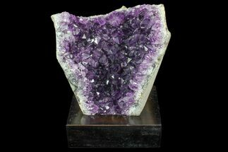 "Buy 5.8"" Dark Purple Amethyst Cluster On Wood Base - #85822"