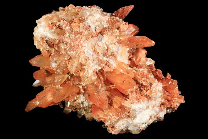 "2"" Orange Creedite Crystal Cluster - Durango, Mexico"