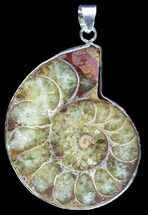 Buy Fossil Ammonite Pendant - 110 Million Years Old - #89812