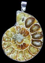 Buy Fossil Ammonite Pendant - 110 Million Years Old - #89860