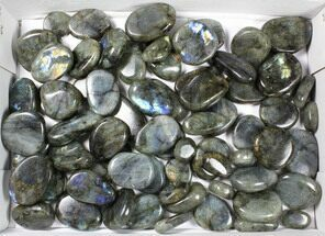 Wholesale Box: Polished Labradorite Pebbles - 5 kg (11 lbs) For Sale, #90653
