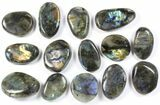 Wholesale Box: Polished Labradorite Pebbles - 5 kg (11 lbs) - #90654-1
