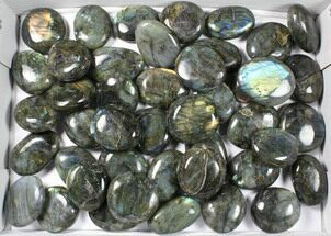 Buy Wholesale Box: Polished Labradorite Pebbles - 5 kg (11 lbs) - #90658