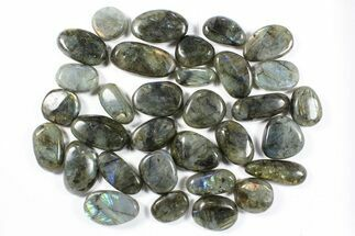 Wholesale Box: Polished Labradorite Pebbles - 1 kg (2.2 lbs) For Sale, #90491