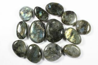 Lot: Polished Labradorite Pebbles - 1 kg (2.2 lbs) For Sale, #90533
