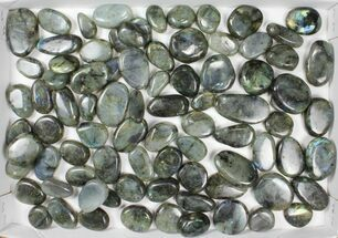 Wholesale Box: Polished Labradorite Pebbles - 3 kg (6.6 lbs) For Sale, #90659