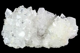 "3.8"" Clear/White Apophyllite Crystal Cluster - India For Sale, #92237"