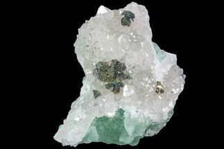 "Buy 2.7"" Quartz, Fluorite and Iridescent Pyrite Association - Fluorescent - #92278"