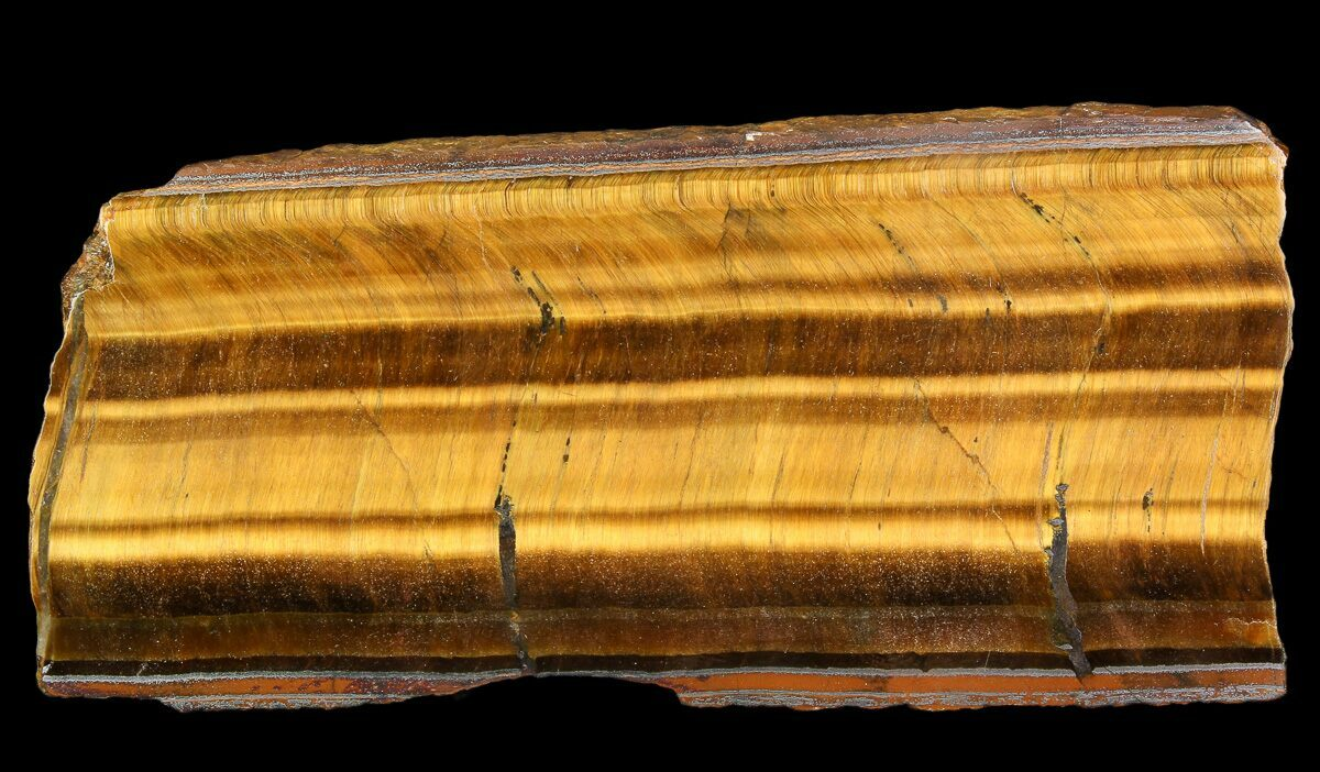 "5.5"" Polished Tiger's Eye Slab - Africa"