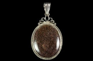 Buy Polished Fossil Dinosaur Bone (Gembone) Pendant - #93286