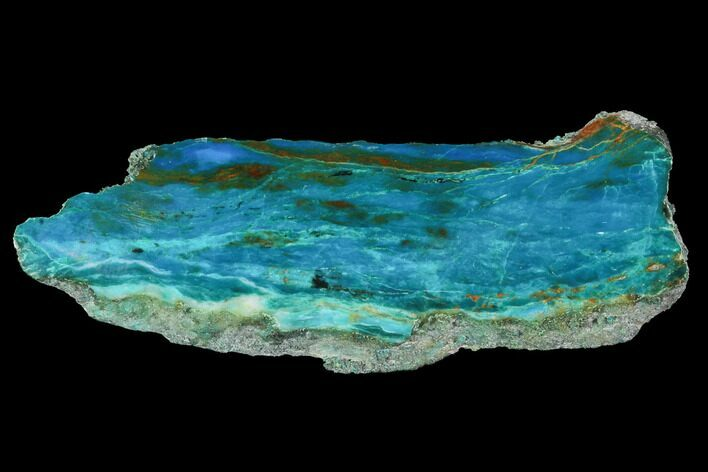 "2.9"" Polished Chrysocolla & Plume Malachite - Bagdad Mine, Arizona"