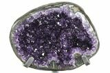 "12"" Amethyst ""Jewelry Box"" Geode On Stand - Gorgeous - #94204-7"