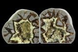 "5"" Utah Septarian Geode Bookends - Beautiful - #94418-1"