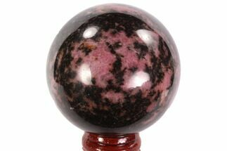 "2.2"" Polished Rhodonite Sphere - Madagascar For Sale, #95036"