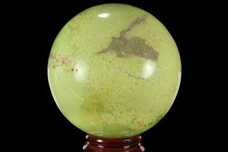 "3.4"" Polished Green Opal Sphere - Madagascar For Sale, #95888"