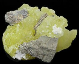 "2.0"" Lemon-Yellow Brucite (New Find) - Pakistan For Sale, #40406"