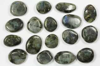 Buy Lot: Polished Labradorite Pebbles - 1 kg (2.2 lbs) - #90544