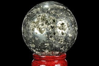 "2.4"" Polished Pyrite Sphere - Peru For Sale, #98006"
