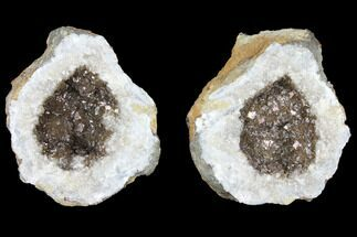 "2"" Keokuk Geode with Calcite Crystals - Missouri For Sale, #96557"