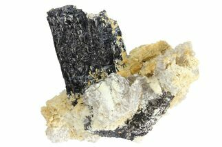 Tourmaline var. Schorl, Quartz var. Smoky & Feldspar - Fossils For Sale - #96582