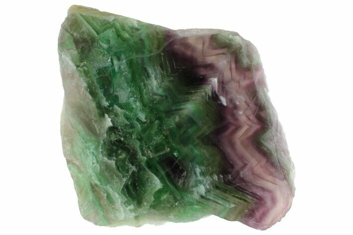 "7.2"" Polished Green & Purple Fluorite Slab - China"