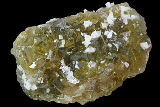 "Buy 2.7"" Yellow, Cubic Fluorite Crystal Cluster with Dolomite - Spain - #98695"