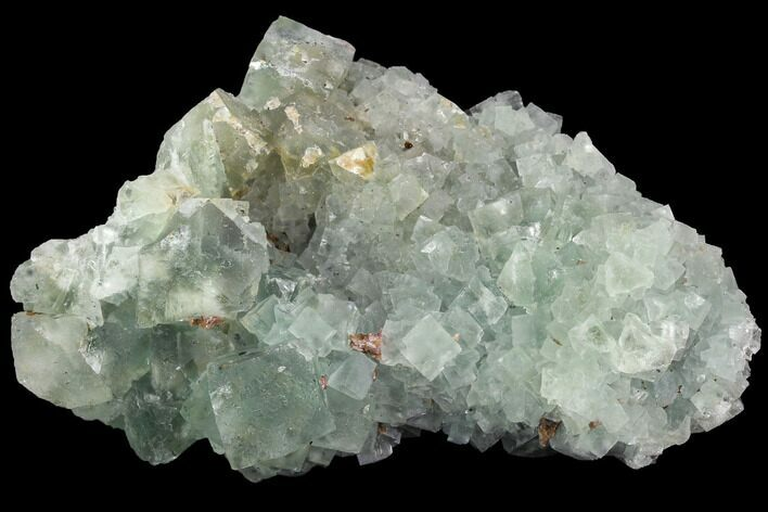 "4.3"" Blue-Green, Cubic Fluorite Crystal Cluster - Morocco"