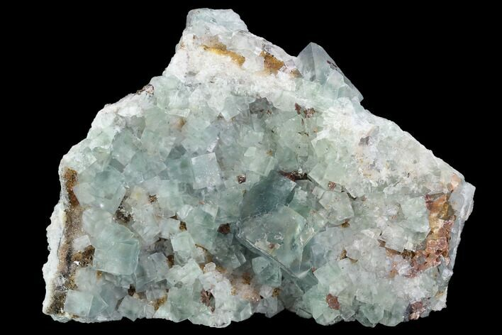"4.5"" Blue-Green, Cubic Fluorite Crystal Cluster - Morocco"