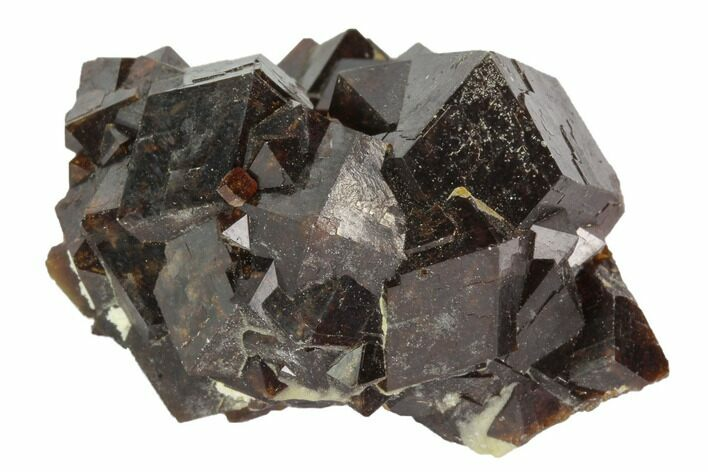 "1.6"" Garnet Cluster with Feldspar - Pakistan"