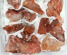 Wholesale Lot: Natural Red Quartz Crystal Clusters - 16 Pieces - #101530-2