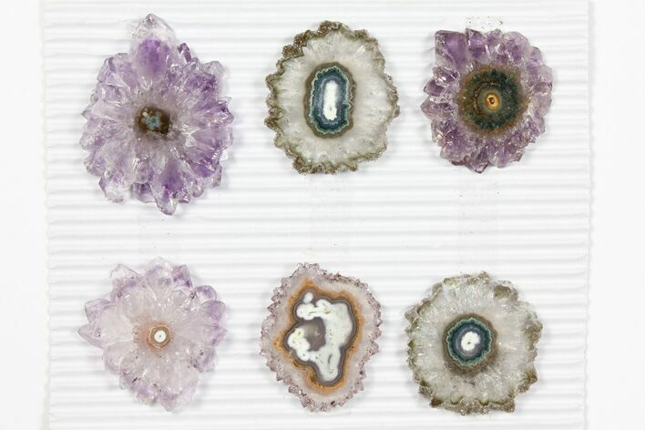 "Wholesale: ~1.6"" Amethyst Stalactite Slices (6 Pieces)"