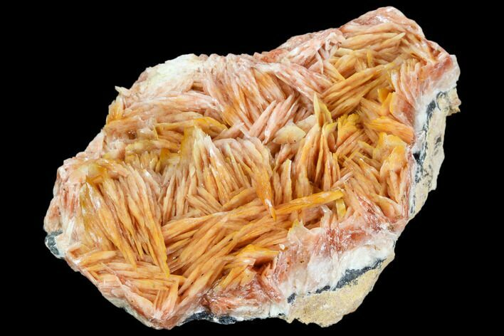 "3.6"" Pink and Orange Bladed Barite - Mibladen, Morocco"