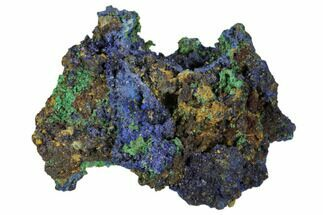 "2.3"" Sparkling Azurite and Malachite Crystal Cluster - Morocco For Sale, #104375"