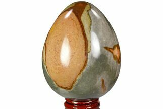 "Buy 3.1"" Polished Polychrome Jasper Egg - Madagascar - #104674"