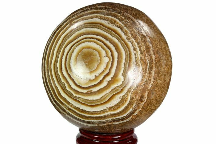 "4.4"" Polished, Banded Aragonite Sphere - Morocco"