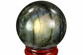 "Buy 1.65"" Flashy, Polished Labradorite Sphere - Great Color Play - #105745"