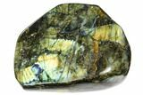 "6.5"" Flashy, Free-Standing, Polished Labradorite - Madagascar - #106916-1"