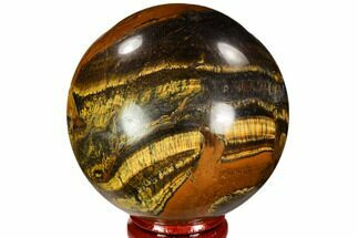 "Buy 2.45"" Polished Tiger's Eye Sphere - Africa - #107302"