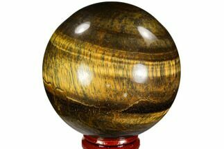 "Buy 2.6"" Polished Tiger's Eye Sphere - Africa - #107308"