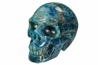 "2.3"" Polished, Bright Blue Apatite Skull - Madagascar For Sale, #108194"
