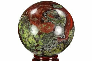 "Buy 3.4"" Polished Dragon's Blood Jasper Sphere - South Africa - #108220"