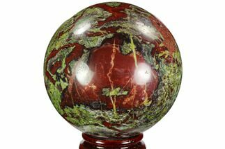"3.3"" Polished Dragon's Blood Jasper Sphere - South Africa For Sale, #108221"