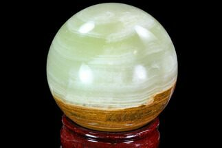 "2.75"" Polished, Green (Jade) Onyx Sphere - Afghanistan For Sale, #108572"