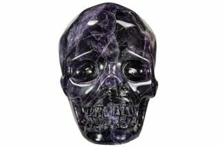 "Buy 2.4"" Carved, Purple Fluorite Skull - China - #108760"