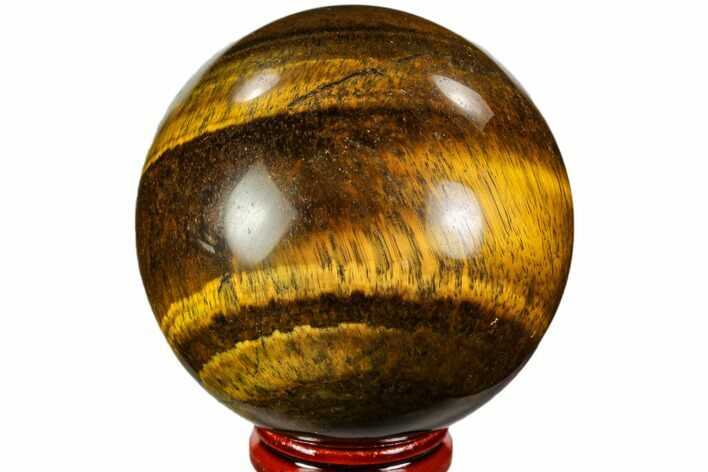 "2.45"" Polished Tiger's Eye Sphere - Africa"